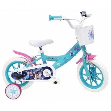 """12"""" Vaikiškas dviratis 2-4 ratų (iki 40kg, ūgis 90-110cm) Frozen"""