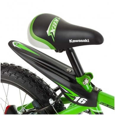 """16"""" Vaikiškas dviratis 2-4 ratų (iki 45kg, ūgis 100-125cm) Kawasaki  Juroku 3"""