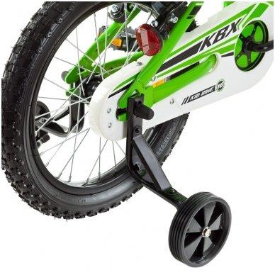 """16"""" Vaikiškas dviratis 2-4 ratų (iki 45kg, ūgis 100-125cm) Kawasaki  Juroku 5"""
