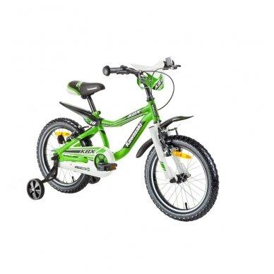 """16"""" Vaikiškas dviratis 2-4 ratų (iki 45kg, ūgis 100-125cm) Kawasaki  Juroku"""