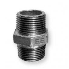 Nipelis juodas, išoriniu/išoriniu sriegiu D 25 mm