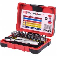 """32 dalių įrankių rinkinys KS TOOLS TorsionPower 1/4"""""""