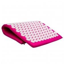 Akupresūros kilimėlis masažuoklis-aplikatorius inSPORTline AKU-500 Pink 75x44cm
