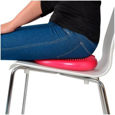 Balansinė pusiausvyros masažinė pagalvėlė inSPORTline Bumy BC100 (raudonas) 3