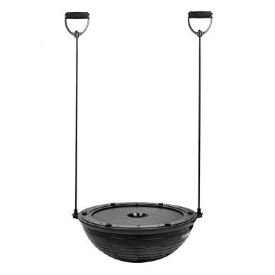 Balansinė pusiausvyros platforma su gumomis inSPORTline Dome UNI Black 60x22cm 2