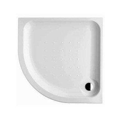 Deep Pusapvalis/kampinis dušo padėklas 80 x 80 x 8 cm, statomas, 550 mm spindulio, akrilinis, baltas