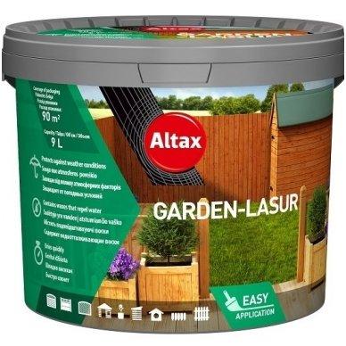 Dekoratyvinė medienos apsaugos priemonė su vašku ALTAX Garden – Lasure 4,5L