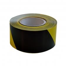 Įsp. juosta 250 m x 75 mm, juoda/geltona