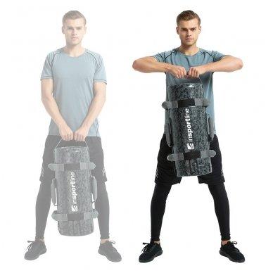 Jėgos maišas su rankenomis inSPORTline FitBag Camu 15kg 7