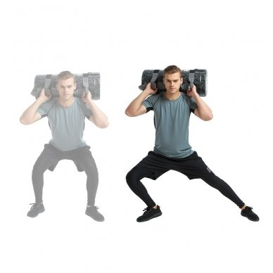 Jėgos maišas su rankenomis inSPORTline FitBag Camu 20kg 5