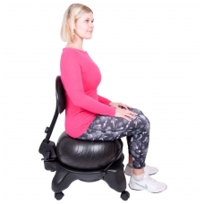 Kėdė su kamuoliu pusiausvyros lavinimui inSPORTline G-Chair