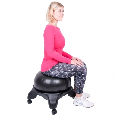 Kėdė su kamuoliu pusiausvyros lavinimui inSPORTline G-Chair Basic