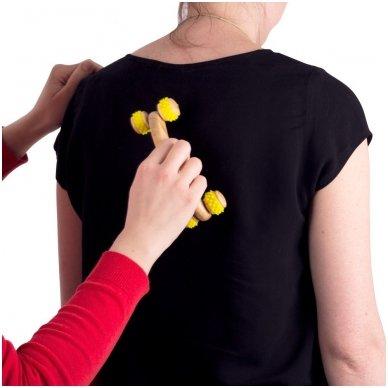 Kūno masažuoklis inSPORTline Kerung Yellow 3