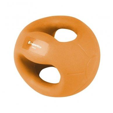 Medicininis kamuolys su rankenomis inSPORTline GrabMe 2kg