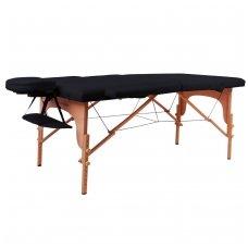 Mobilus medinis masažo stalas 2 dalių inSPORTline Taisage (juodas)