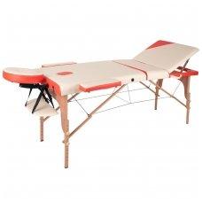 Mobilus medinis masažo stalas 3 dalių inSPORTline Japane (oranžinis)