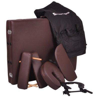 Mobilus medinis masažo stalas 2 dalių inSPORTline Taisage (juodas) 12