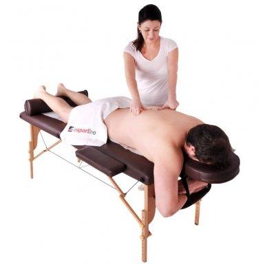 Mobilus medinis masažo stalas 2 dalių inSPORTline Taisage (juodas) 14