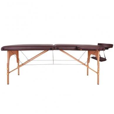 Mobilus medinis masažo stalas 2 dalių inSPORTline Taisage (juodas) 3