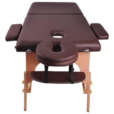 Mobilus medinis masažo stalas 2 dalių inSPORTline Taisage (juodas) 4