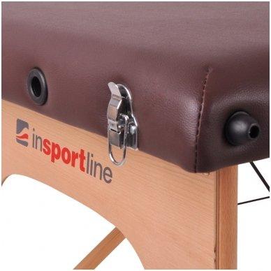 Mobilus medinis masažo stalas 2 dalių inSPORTline Taisage (juodas) 8