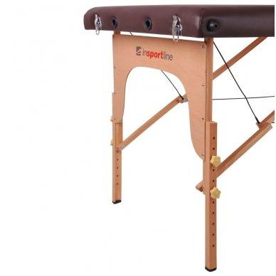 Mobilus medinis masažo stalas 2 dalių inSPORTline Taisage (juodas) 9