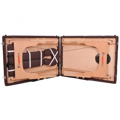 Mobilus medinis masažo stalas 2 dalių inSPORTline Taisage (pilkas) 10