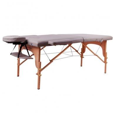 Mobilus medinis masažo stalas 2 dalių inSPORTline Taisage (pilkas)