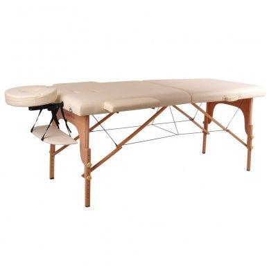 Mobilus medinis masažo stalas 2 dalių inSPORTline Taisage (šviesus)