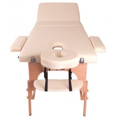 Mobilus medinis masažo stalas 3 dalių inSPORTline Japane (oranžinis) 4