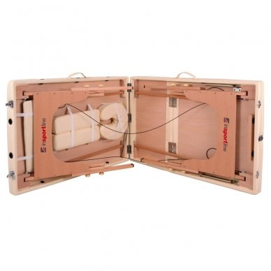 Mobilus medinis masažo stalas 3 dalių inSPORTline Japane (oranžinis) 10