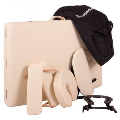 Mobilus medinis masažo stalas 3 dalių inSPORTline Japane (rudas) 13