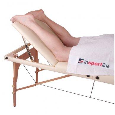 Mobilus medinis masažo stalas 3 dalių inSPORTline Japane (rudas) 14