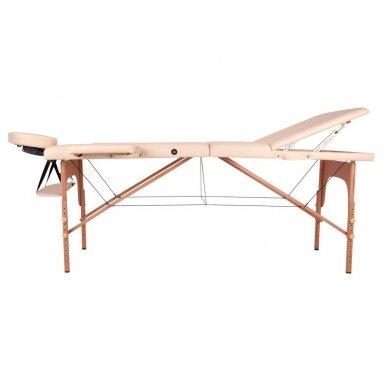 Mobilus medinis masažo stalas 3 dalių inSPORTline Japane (rudas) 3