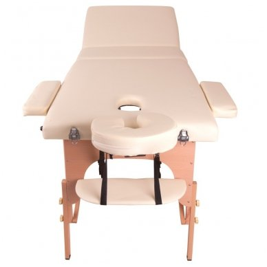 Mobilus medinis masažo stalas 3 dalių inSPORTline Japane (rudas) 4