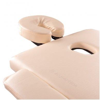 Mobilus medinis masažo stalas 3 dalių inSPORTline Japane (rudas) 6