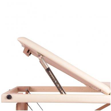 Mobilus medinis masažo stalas 3 dalių inSPORTline Japane (rudas) 8