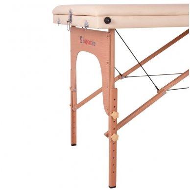 Mobilus medinis masažo stalas 3 dalių inSPORTline Japane (rudas) 9