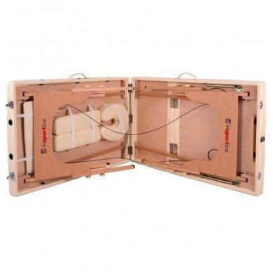 Mobilus medinis masažo stalas 3 dalių inSPORTline Japane (rudas) 10