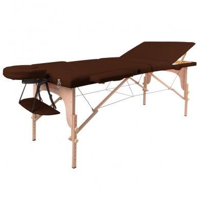 Mobilus medinis masažo stalas 3 dalių inSPORTline Japane (rudas)