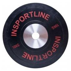 Olimpinis svoris tinkamas metimui 50mm inSPORTline BumperPlate 10kg