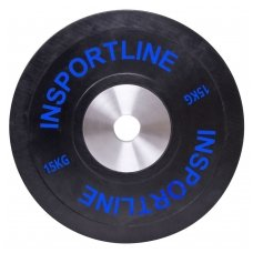 Olimpinis svoris tinkamas metimui 50mm inSPORTline BumperPlate 15kg