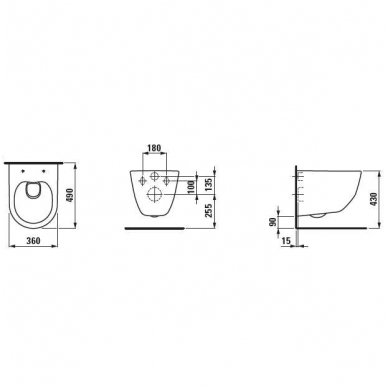 Pakabinamas unitazas Pro Rimless Compact be nuplovimo lanko 2
