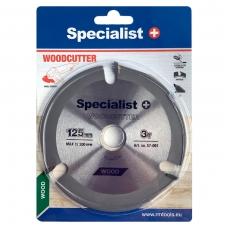 Pjovimo diskas WOOD CUTTER 125 x 22 mm