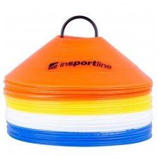 Plastikiniai treniruočių žymekliai su stovu inSPORTline B40 5cm (40vnt.)