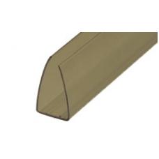 Profilis 2.1m 8mm bronza-pilkas