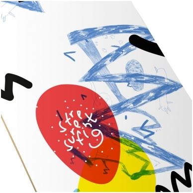 "Riedlentė Street Surfing Street Skate Wall Writer II 31"", kinų klevas, ABEC-7 6"