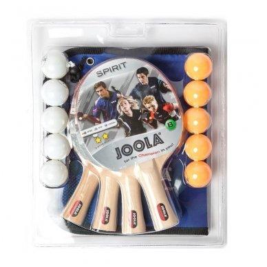 Stalo teniso rinkinys Joola Family (4 raketės, 10 kamuoliukų)