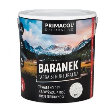 Struktūriniai dažai Baranek Primacol, 5L